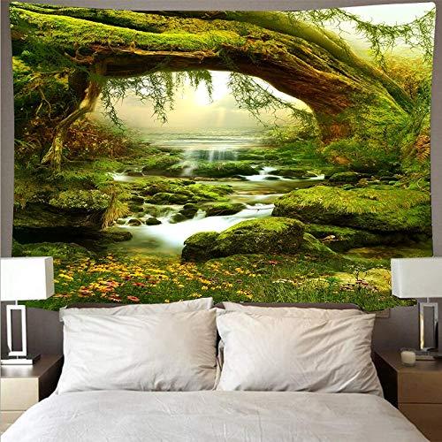 Tapiz de árbol de la vida Hippie tapiz psicodélico bohemio decoración del hogar tela de pared natural tapiz de tela de fondo A1 150x200cm