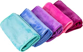 Nugilla Makeup Remover Cloth 5 Pack - Reusable Microfiber Cleansing Towel,Suitable for All Skin Types,Move Makeup Instantl...