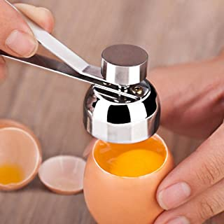 VANVENE Egg Topper Cutter with Stainless Steel, Egg Cracker Tool of Soft Hard Boiled Egg Cutter Smooth Round Opening. Eggshell Cutter Easy to Use and Work in Your Kitchen