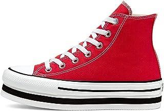 Chuck Taylor All Star Platform Layer Bottom Zapatos Deportivos para MUIER Rojo 567996C