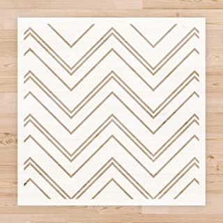 """Geometric Chevron Herringbone Pattern Wall Stencil for Painting, 12"""" x 12"""" Reusable Repeating Pattern Stencil Template for..."""