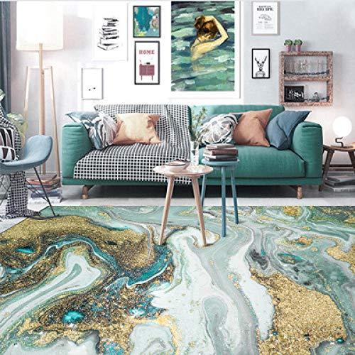 nobrand Tappeto Home Moderno Tappeto Acqua di Mare Astratta Verde blu-150 * 200cmper Salotto, corridoio, Cucina Tappeto