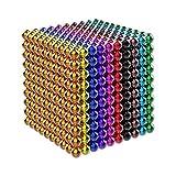 OBEST マグネットボール 立体パズル バッキーボール 1000個セット﹙5mm﹚おもちゃ 教育工具 DIY工具 (十色タイプ)