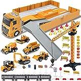 Vehículo de Construcciones Juguetes con Sonidos para Niños, Tractor Camión...