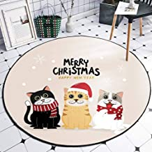 Children's Cute Carpet Crystal Velvet Round Home Game Pad Baby Crawling Mat Warm and No Smell Rugs,2,120cm