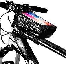 """کیف دستی تلفن دوچرخه WILD MAN ، کیف دوچرخه ضد آب جلوی بالای صفحه با کیف دستی دارنده صفحه نمایش لمسی برای iPhone X XS Max XR 8 7 Plus ، برای تلفن های آندروید / آیفون زیر 6.5 """""""
