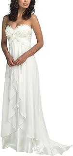 Nitree Sweetheart Chiffon Long Beach Wedding Dress Bridal Gown Bride Marry Party