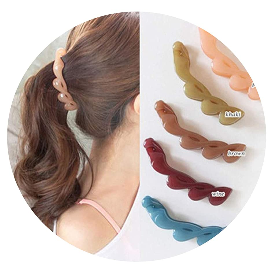 2019 New Korean Hair Banana Clip Horsetail Hair Grip Cute Girls Women Hair Headwear Accessories para el pelo Fashion Hot Sale,brown