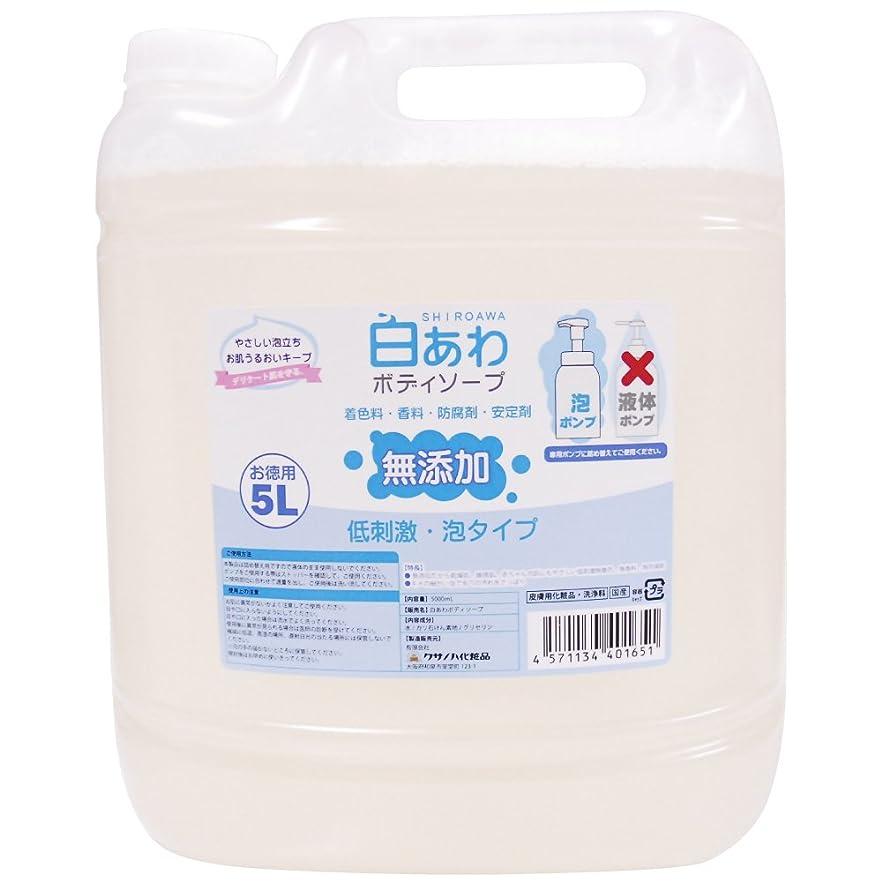知らせるプラスチック頼る【無添加】白あわボディソープ 詰替用 5L