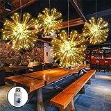 LED Feuerwerk Licht, 4 Köpfe USB-betriebenen Hängende Lichterkette 320 LEDs Bouquet Form mit Fernbedienung für Weihnachten Party