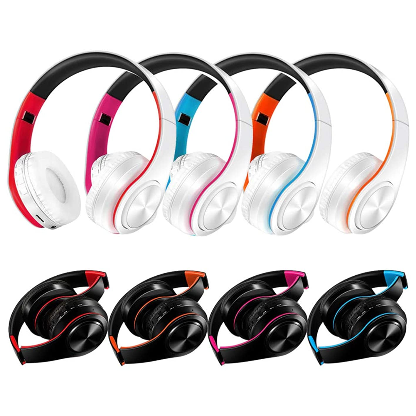 Stereo Gaming headsets Noise Canceling Mic Bass Surround USB Colorful Breath Light Music, Movies Wireless for Bluetooth Foldable Headset Stereo Headphone Earphone for Samsung HOT hsmfcszavvx091