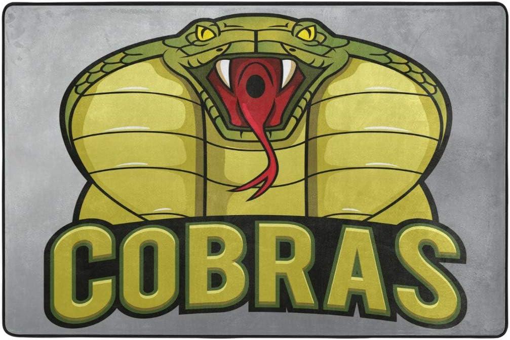 Cobra Snake Mascot Ultra Soft Indoor Modern Area Rugs For Children Bedroom Home Decor Nursery Room 6 X4 Amazon Ca Home Kitchen
