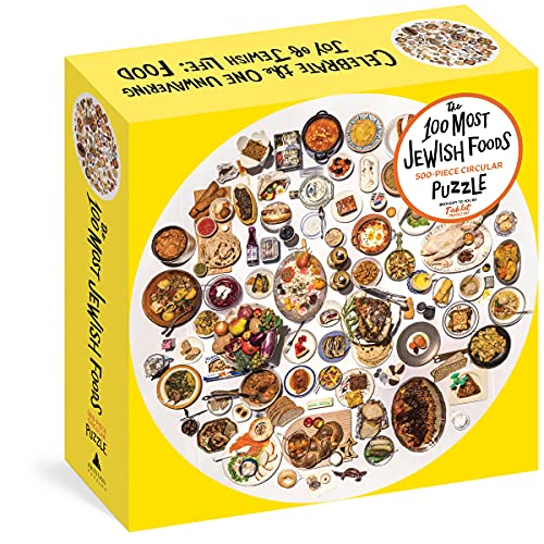 Compare Textbook Prices for The 100 Most Jewish Foods: 500-Piece Circular Puzzle Artisan Puzzle  ISBN 9781648290756 by Tablet