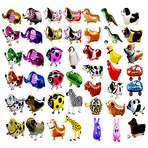 RETON 7 PCS/Set Walking Animals Balloon Kids Brithday Party Decor Children Gifts-Mixed Pets Air Walkers