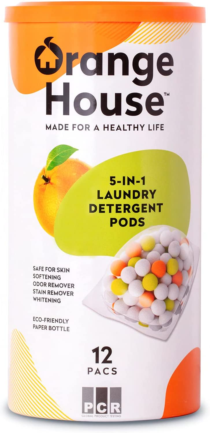 Orange House Laundry Detergent Max 41% OFF Pods Manufacturer regenerated product 12 Natural 1 Soli 5 in Pacs