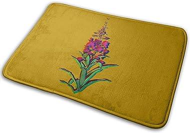Blue Flowers in Bloom Carpet Non-Slip Welcome Front Doormat Entryway Carpet Washable Outdoor Indoor Mat Room Rug 15.7 X 23.6