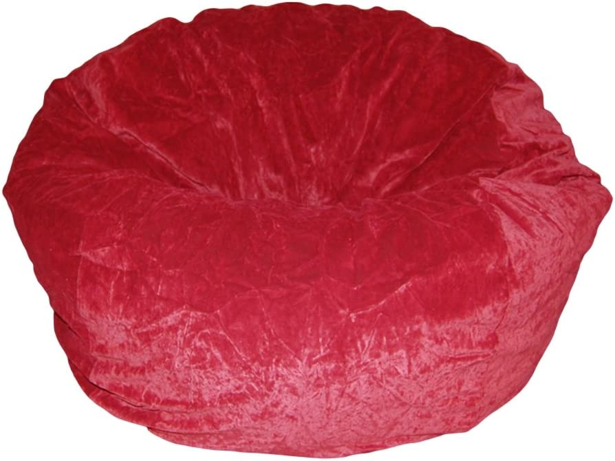 Ahh Products Dark Red Velvet Limited time for free shipping Bean Popular brand in the world Bag Large Microsuede Washable