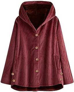 5XL Staresen Manteau /à Capuche Femme Hiver Grande Taille Parka Coat Outwear Manches Longues Sweat Veste avec Capuche Dames Manteaux Doublure Polaire /Épais Chaud M