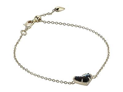 Kendra Scott Ari Heart Delicate Chain Bracelet (Gold Abalone Shell) Bracelet