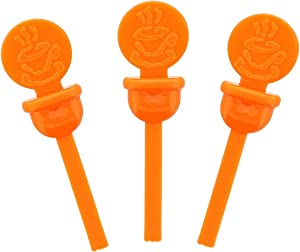 StixToGo Orange Circle Beverage Plug for Disposable Lids, Package of 400