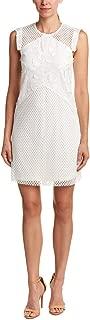 Julia Jordan Women's Short Sleeve Mesh Shoulder Cotton Floral Embroidered Dress
