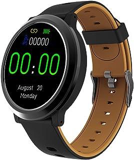 LTLJX Reloj Inteligente Mujer Hombre Smartwatch Pulsera Actividad Relojes Inteligentes Deportivo, Podometro Contador de Pasos, Calorías, Sueño,Distancia Cronómetros para iOS Android,Marrón