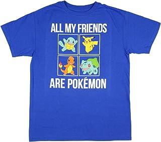 Seven Times Six All My Friends Are Pikachu Charmander Bulbasaur Squirtle Big Boys' T-Shirt