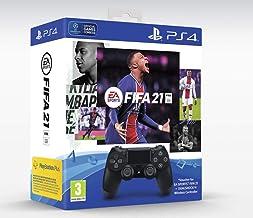 Jet Black Dual Shock Controller Black inclusief FIFA21 Voucher met volledige game (PS4)