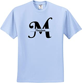 3dRose BrooklynMeme Monograms Bold Script Monogram A Adams T-Shirts