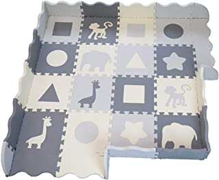Soft Foam Baby Play Mat - Interlocking Floor Tiles, Extra Thick (0.80