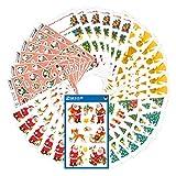 AVERY Zweckform Set Aufkleber Weihnachten 318 Sticker (Weihnachtssticker klassik, Weihnachtspost, selbstklebend, Glitzer, gold, Weihnachtsdeko, Basteln, Geschenke, Karten, Weihnachtsgrüße)...