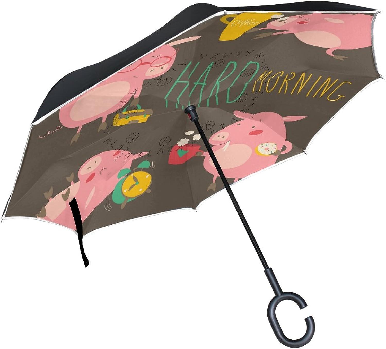 Jennifer Straight Selfstanding Reserve Umbrella Pink Pig Hard Morning Double Layer Ingreened Folding Umbrella Waterproof Umbrellas for Car