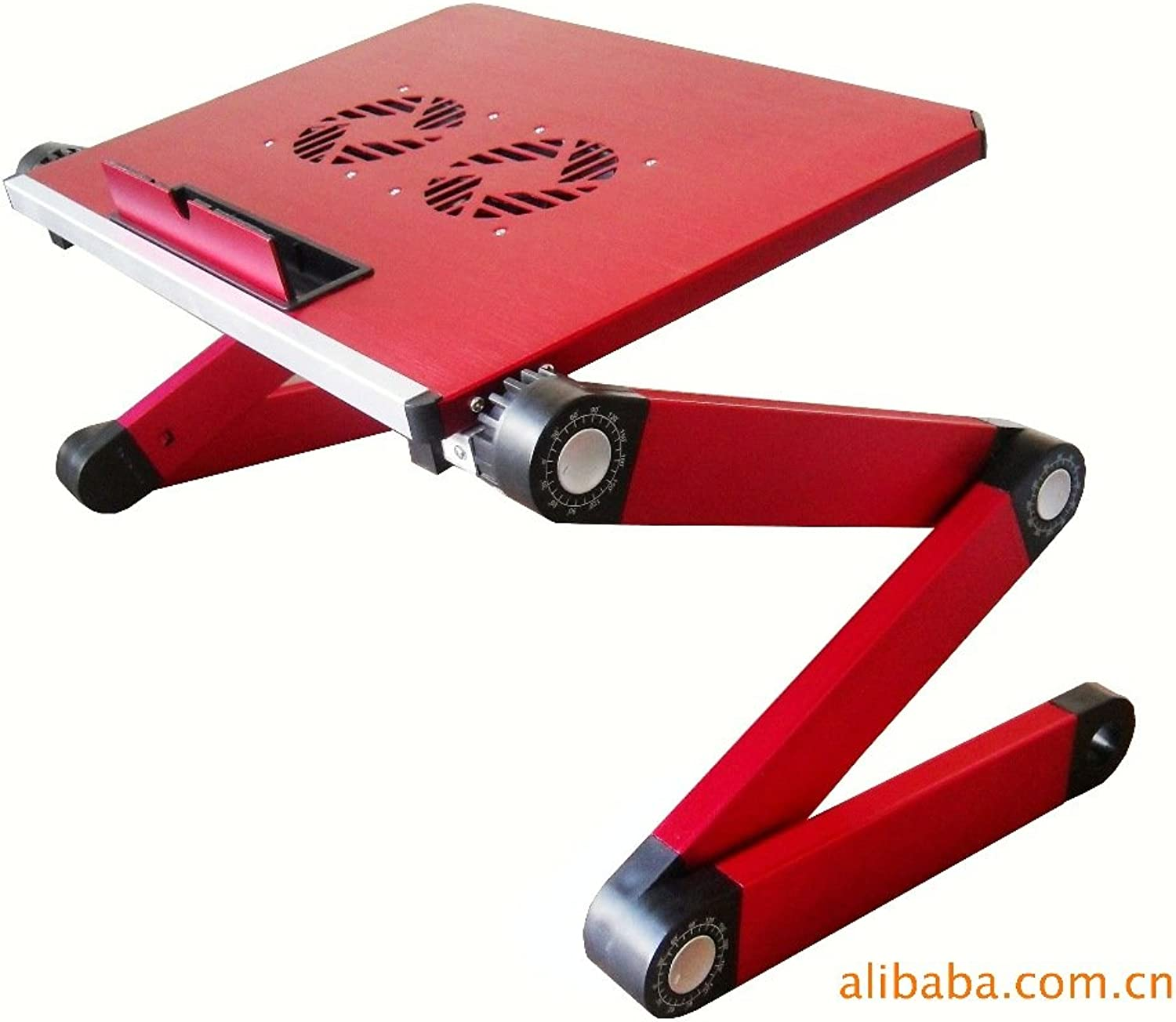 Qiaoba- Bed Computer Desk_ Notebook Lapdesk Aluminum Alloy Computer Desk Folding Tables Bed