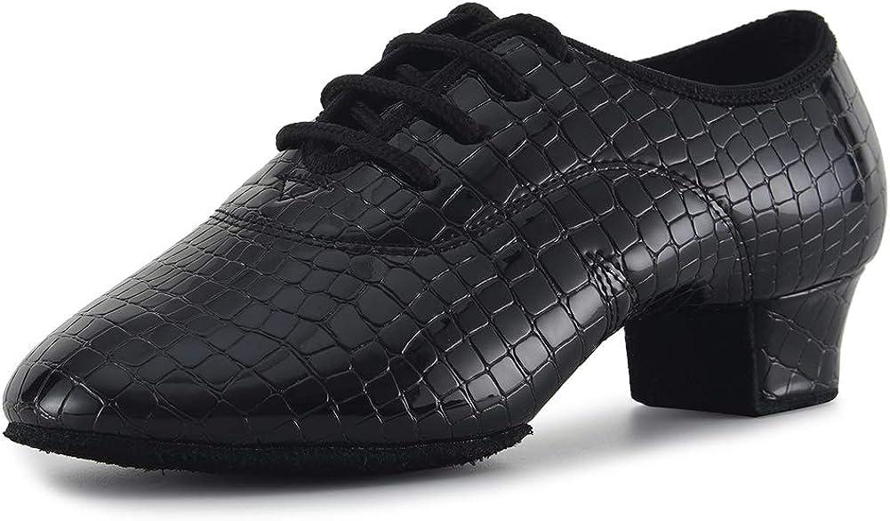 VCIXXVCE Men's アウトレット☆送料無料 Boys 正規激安 Lace-up Professional Latin Dance Ballr Shoes