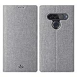 Eastcoo LG G8s ThinQ Hülle,LG G8s ThinQ Wallet Handyhülle PU Leder Flip Case Tasche Cover Schutzhülle mit [Standfunktion][Magnetic Closure][Card Slots] für LG G8s ThinQ Smartphone,Grau