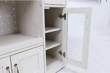 不二貿易 キッチンカウンター キッチンワゴン 幅90.5×奥行39.5×高さ82cm カラー:ホワイト×ナチュラル 97954