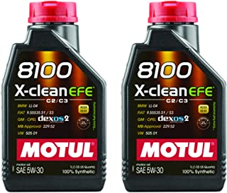 Motul 8100 X-Clean EFE 5W30 1 Liter (Pack of 2)