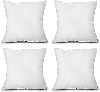 EDOW Throw Pillow Inserts, Set of 4 Lightweight Down Alternative Polyester Pillow, Couch Cushion, Sham Stuffer, Machine Wa...