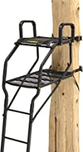 Rivers Edge RE653, Lockdown Bow-Pro 1-Man Ladder Tree Stand, Extra Tall 20' Height with TearTuff Flip-up Mesh Seat, Extended Depth 30