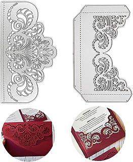 2pcs Dies de Découpe Scrapbooking Cutting Dies Carte Invitation Enveloppe Décoration Bricolage Carte pour Fête Mariage