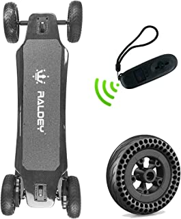 RALDEY GEN1 Electric Skateboard Cross-Country All Terrain Carbon at Longboard with Remote, 7AH Battery,Max Speed 28MPH, 9 Miles Range,1500W Dual Motor