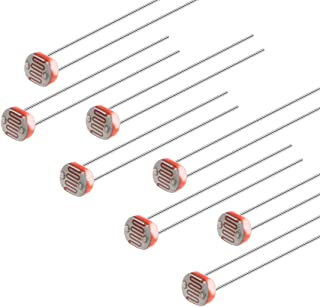 uxcell 50Pieces Photoresistor Kit 5mm Photo Light Sensitive Resistor Light Dependent Resistor with Free Box for DIY and Ex...