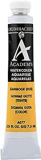 Grumbacher Academy Watercolor Paint, 7.5ml/0.25 Ounce, Gamboge Hue (A077)