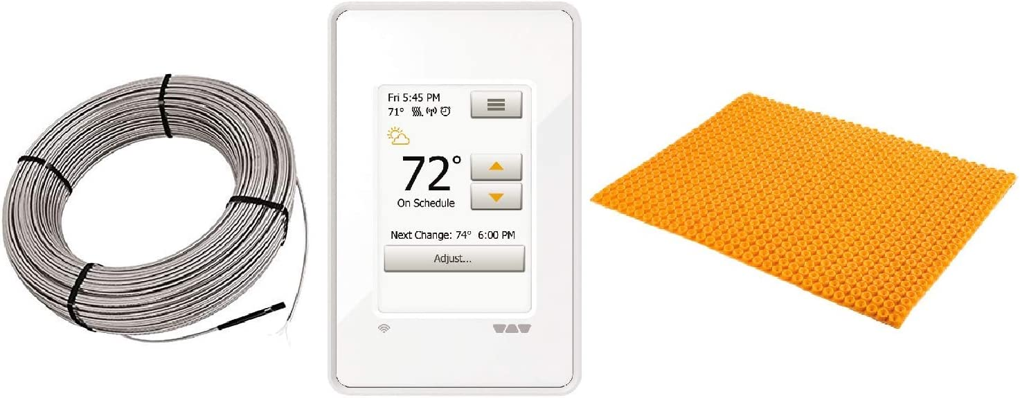Schluter DITRA Floor Heat High quality E Therm Max 53% OFF Includes Kit Touchscreen Wi-Fi