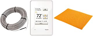Schluter DITRA Floor Heat E Kit Includes Wi-Fi Touchscreen Thermostat + Heat Membrane + Cable 120V 83 SqFt Heat Kit