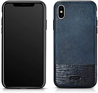 cover iPhone X/XS Splicing Brilliant PU Leather Back Cover blue by XOOMZ