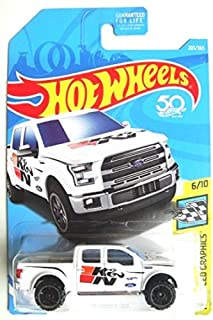 Hot Wheels 2018 50th Anniversary HW Speed Graphics '15 Ford F-150 203/365, White