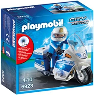 Playmobil City Action Police Bike With LED Light Building Toy - (5 Years & Above)