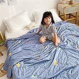 HOUMEL - Edredón nórdico de 1,5 Tog, ligero, de microfibra, hipoalergénico, 100% algodón, manta para sofá cama, manta 012, D, suelto