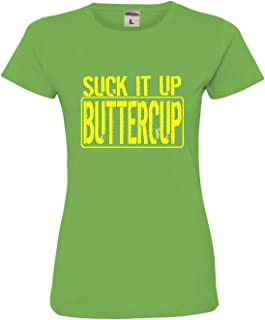 Womens Suck It Up Buttercup Funny Workout Gym Deluxe Soft T-Shirt